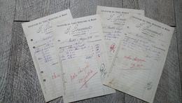 Factures Vierzon Exploitation Terres Réfractaires De Massay Jouannet 7 Rue Victor Hugo 1927 - France