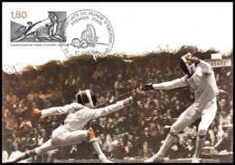 3866/ Carte Maximum (card) France N°2147 Championnats Du Monde D'escrime (fencing) - Maximum Cards