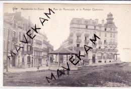 """Cpa Mariakerke-les-bains """" La Rue De Raversyde Et La Rampe Quitmann """"  (Kiosque à Musique) - Oostende"""