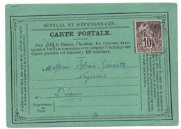 Senegal Carte Precurseur De Saint Louis - Alphee Dubois