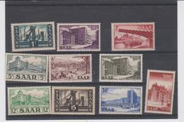 ALLEMAGNE SARRE (occupation Française) Série Compléte 10 T Neufs Xx 306 à 315 - 1952 - 1947-56 Ocupación Aliada