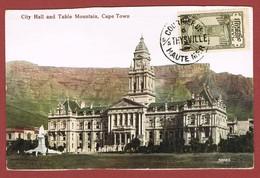 Scheepspost Courrier De Haute Mer S/s Theysville Op Voorkant Van Onbeschreven Kaart - Postmark Collection