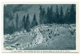 74 : COL DES ARAVIS - LES COUREURS DU TOUR DE FRANCE DANS LES LACETS DE LA GIETTAZ / CYCLISME - France