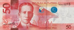 Philippines 50 Piso, P-207a (2016G) - UNC - Philippinen