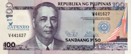 Philippines 100 Piso, P-212 (2011) - UNC - 75 Years Atenao Law School Overprint - Philippinen