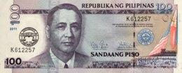Philippines 100 Piso, P-212B (2011) - UNC - 100 Years University Overprint - Philippinen