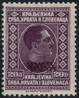 ~~~ Yougoslavia 1928 - Flood Inundation Overprinted XXXX - Mi. 220 * MH OG  CV 150 Euro  ~~~ - Ongebruikt