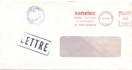 France Lettre Greve Des Postes 1974 Cachet De La Chambre De Commerce De Saint Quentin Aisne - Postmark Collection (Covers)