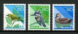 JAPON 1993 N° 2079/2081 ** Neufs MNH Superbes C 6,50 € Faune Oiseaux Passereau Canard Birds Martin Pêcheur Animaux - Unused Stamps
