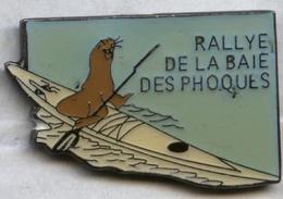 Pin's Canoë Rallye De La Baie Des Phoques Baie De Somme Picardie - Canoeing, Kayak