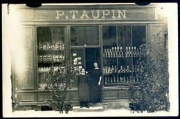 Cpa Carte Photo Du 53 Pré En Pail épicerie P. Taupin Collection Neveu ACH14 - Pre En Pail