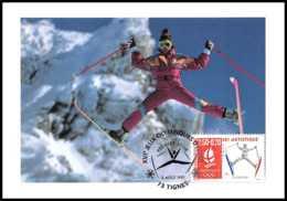 4622/ Carte Maximum (card) France N°2709 Jeux Olympiques (olympic Games) Albertville 1992 Ski Artistique Tignes - Maximum Cards