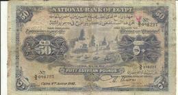 EGYPT  P. 15c 50 P 1942 Poor - Egypte