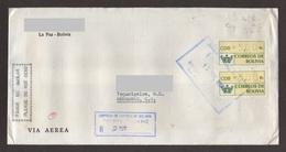 Bolivia, Cover Sent From La Paz-Tegucigalpa With Printed Stamps, 1997 - Bolivia