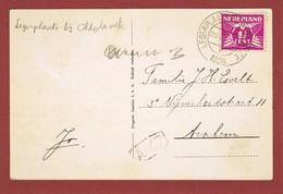 Zichtkaart Legerplaats Oldenbroek Met Gelijknamige Stempel  Uit 1923 2 Scan - 1891-1948 (Wilhelmine)