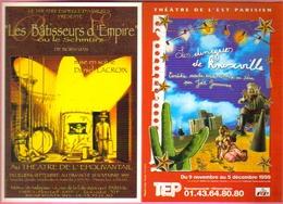 """2 Cartes Postales """"Cart'Com"""" (1999) - Théâtre De L'épouvantail - Théâtre De L'Est Parisien - Théâtre"""