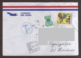 Czech Republic, Cover Sent From Hradec Králové-Tegucigalpa With Architecture Stamps, Christmas, 1999 - Brieven En Documenten