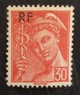 Type Mercure Surchargé RF N° 658 Neuf - 1938-42 Mercurio
