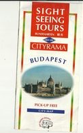 BUDAPEST  SEEIG  TOURS  CITY  MAP - Libri, Riviste, Fumetti