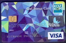 Used  Bankcard Of Kazakhstan KAZKOM. VISA. - Geldkarten (Ablauf Min. 10 Jahre)