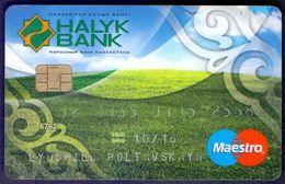 Used  Bankcard Of Kazakhstan HALYK BANK. VISA. - Geldkarten (Ablauf Min. 10 Jahre)