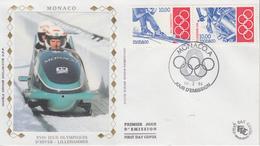Enveloppe  FDC  1er  Jour   MONACO   JEUX  OLYMPIQUES  D'  HIVER    LILLEHAMMER    1994 - Hiver 1994: Lillehammer