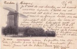 Oostduinkerke Les Moulins Circulée En 1902 - Oostduinkerke