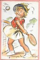 Carte Découpis Et Paillettes J'vais Pas La Louper ! Tennis Germaine Bouret - Bouret, Germaine