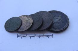 Lot De 6 Monnaies Bronzes  (83) - France