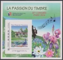Année 2014 - Feuillet Souvenir De La FFAP - N° 9 - 87ème Congrès - Parc Floral De Vincennes Paris 2014 - FFAP