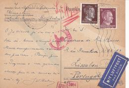 Portugal -Alemania 8 Cartas Circuladas - Sin Clasificación
