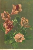 CARTOLINA ROSE   1941 XIX  ANNO  FASCISTA  RICORDO  DI  GEORGE PERNET - Fiori