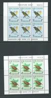 New Zealand 1966 Birds Weka & Bellbird Health Charity Miniature Sheets MNH - New Zealand