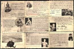 Lot 41 Cartes  - Histoire De France - Procès Verbal - Lettres Célébres - Guillotine...Napoléon..peu Fréquent - Familles Royales