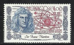 MONACO , 4 Frs , Tricentenaire De L' énoncé De La Théorie De L' Attraction Universelle , 1987 , N° YT 1607 , NEUF ** - Monaco