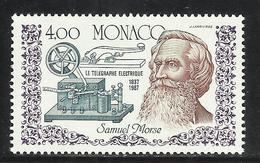 MONACO , 4 Frs , 150 Anniversaire  De L' Invention Du Télégraphe , 1987 , N° YT 1608 , NEUF ** - Monaco
