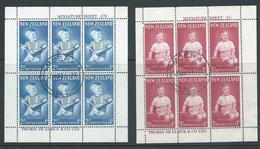 New Zealand 1963 Health Charity Set Prince Andrew - Both Miniature Sheets FU Central Moera Cds - New Zealand