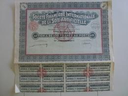 Action Société Financière Internationale De La Soie Artificielle - Textile