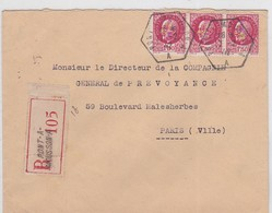 LSC - REC. OBL. B.A.U. PONT-A-MOUSSON  / 17.2.42 - Marcophilie (Lettres)