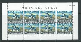 New Zealand 1964 Health Charity 3d Penguin Miniature Sheets MNH , Light Crease At Margin LL - New Zealand
