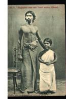 India Singhalese Man & Dwarf Tamil Woman 1907 - Inde