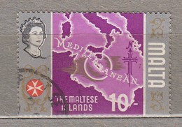 MALTA 1965 Map Used (o) Mi 318  #24497 - Malta