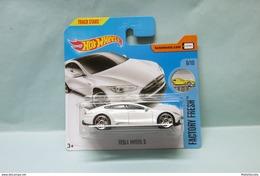 Hot Wheels - TESLA MODEL S - 2017 Factory Fresh HOTWHEELS EU Short Card 1/64 - HotWheels