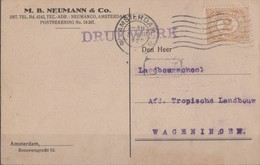 Hollande, Pays-Bas Carte 1922 Scan R/V. - 1891-1948 (Wilhelmine)