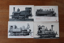 4 Cpa  Locomotives   Allemagne Dont  Cassel Naumburg - Trains