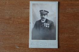 Cdv Ancien Combatttant De 1870  Avec Uniforme Oublié Jamais  Et Medaille De Belfort - Oorlog, Militair