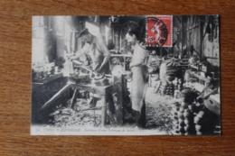 Cpa   Interieur D'une Fabrique De Sabot  1909 Bonne Carte Animée - Artesanal