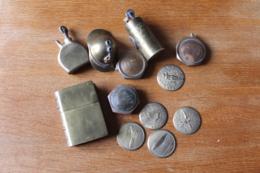Bon Lot D'artisanat De Tranchées Briquets  Pieces Détachées  1914 1918 - 1914-18