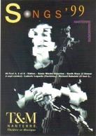 """Carte Postale """"Cart'Com"""" (1999) - Théâtre Nanterre Amandiers - Songs' 99 - Théâtre"""