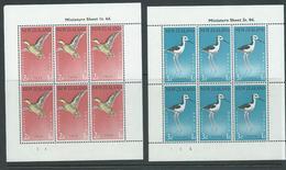 New Zealand 1959 Birds Teal & Stilt Health Charity Miniature Sheets MNH - New Zealand